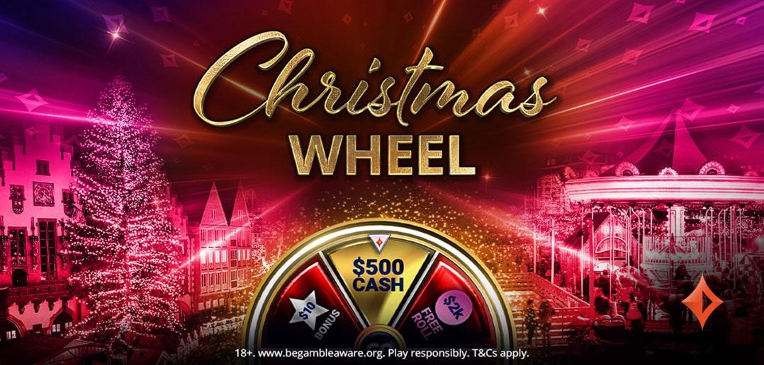 «Рождественское колесо» на partypoker: фрироллы и большие призы